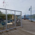 Outdoor patio of the Starboard Grill.