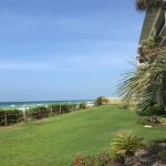 Beautiful lawn over looking the ocean