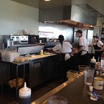 View from the counter.