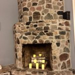 Here is the fireplace in the keepers quarters - this lighthouse has a keeper program