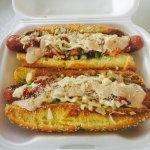 Venezuelan Hotdogs.  Taste  the RAIN!