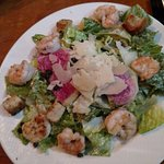 Great Caesar salad with shrimp