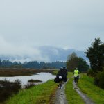 A few photos from our Nelson cycling holiday - atmospheric in the rain