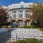 Olde Mill Inn Stone Courtyard Wedding Setup