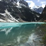 Ice on Lake Louise