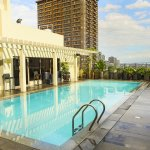 Beat the heat and chill at the hotel's scenic rooftop swimming pool.