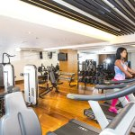 Sweat it out at the hotel's state-of-the-art fitness center.