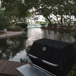 Lot's of grills on the lagoon