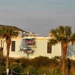 View of Surf Diner from the Surfside Beach resort front door.