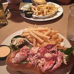 Seriously - as big as my head lobster roll. And the parmesan fries? Heavenly!
