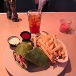 Chicken salad spinach wrap - yummm!