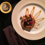 Room service dessert.