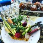 Spring vegetable crudité | grilled carrot hummus