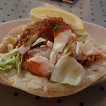 lobster taco - probably looks better than it was...