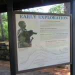 Early Exploration Information Sign, Fort Cascades Historic Site, Columbia River, Washington