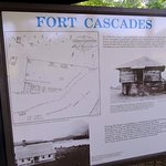 Fort Cascades Information Sign, Fort Cascades Historic Site, Columbia River, Washington