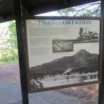 Transportation Information Sign, Fort Cascades Historic Site, Columbia River, Washington