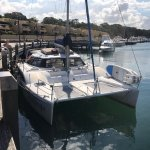 Seascape ready for boarding at Woolloomooloo wharf