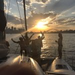 Sunset fun onboard Seascape