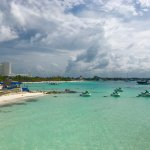 Reiteró la playa en esta zona de Fiesta Americana y los Riu es de las mejores.