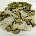 Mushrooms with Pesto and Parmigiano