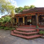 Receiption of Sapana Village Lodge, Chitwan Nepal
