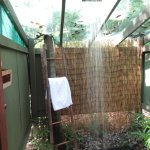 The outdoor shower - nice and private