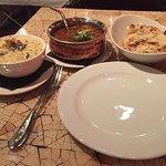 Deshi Lamb, Pilau rice and Peshwari naan