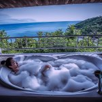 Enjoy the view beside you and relax in your own bathtub