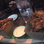 This fried chicken wing and dipping goes best with a glass of chilled beer.