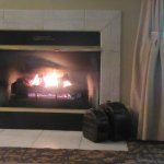 Fireplace,  Whispering Woods Resort, Welches, Oregon