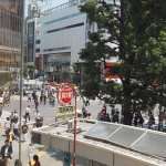 view of Shibuya crossing from 2nd floor