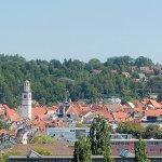 Silhouette der wunderschönen Altstadt von Ravensburg, genießen Sie diesen Blick von Ihrem Zimmer