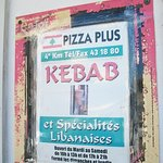 Pizza Plus and kebab joint.