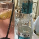 Rhubarb Gin (Edinburgh Gin) and Mediteranean Fever Tree tonic