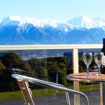 View of the kaikoura mountains & the sea from Balcony