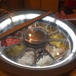 Wheel of Ice cream flavors. selection of colors and flavors. sample a taste before choosing a co