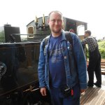 Me with No 7 Tom Rolt at Tywyn.