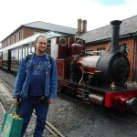 Me with No 2 Dolgoch at Tywyn.