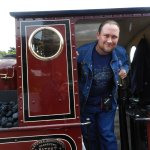 Me in the cab of Dolgoch.