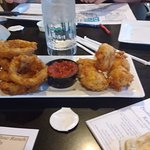 onion rings and mozz cheese sticks
