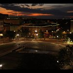 A sunset view of Ellis Square and City Market in Savannah, GA from the feature film, Untouched.