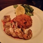 Shrimp & Scallops with Risotto cake