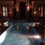 Nigh view swimming pool