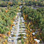 Resort Section of campground along the Ausable River