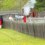 firing musket