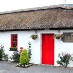 Gallagher's Seafood Restaurant is housed in a traditional Irish thatched roof cottage.