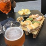 Spritz and craft beer with snacks