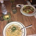 Pasta Thai con Camrones/Pasta al óleo con Camarones