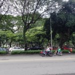 Le Van Tam Park directly opposite the hotel